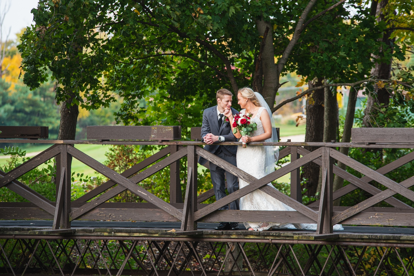 Matt + Jessica at Lake Forest Country Club in Hudson, Ohio